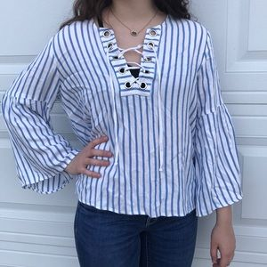 Karen Kane stripped blouse